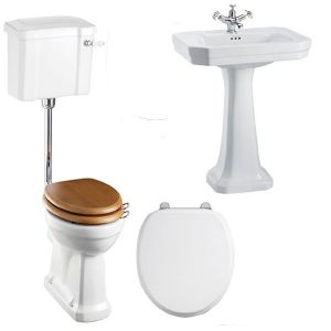 Image of Burlington Bathroom Suite, 610mm Wide Victorian Basin, 1 Tap Hole