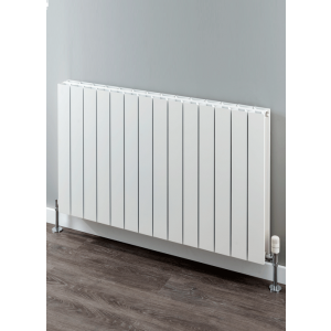 Supplies4Heat Paxton Horizontal Aluminium Radiator - White