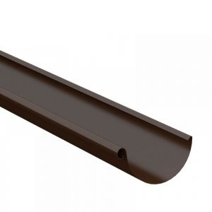 Image for Lindab Steel Half Round Guttering 150mm x 3m Painted Brown