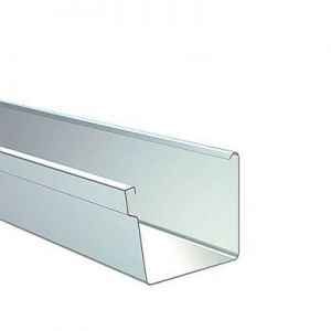 Image for Lindab Rectangular Gutter 136mm x 3m Painted Anthracite Metallic