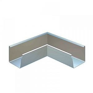 Image for Lindab 90dg Rectangular Internal Gutter Angle 136mm Painted Silver