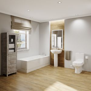 Image for The Kingston Modern 6 Piece Bathroom Suite