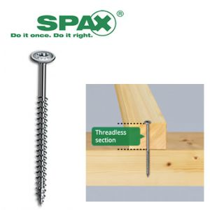 Image for SPAX Washer Head Screws 6 X 80mm Wirox T-Star 200 Pk