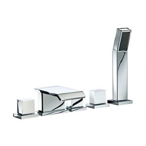 Image for Tourmaline 5 Hole Bath Shower Mixer Tap Chrome