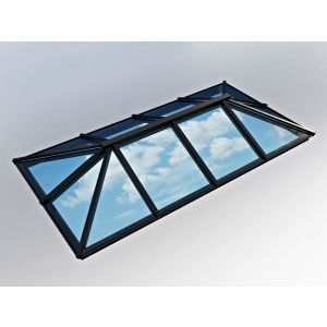 Image for Atlas Traditional Roof Lantern Window Active Neutral Double Glazed - Black