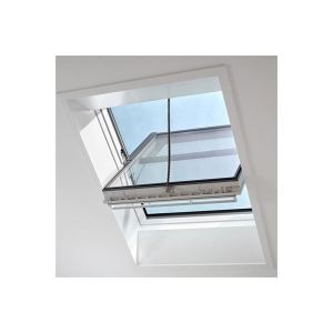 Image for VELUX GGU SD0L140 White Polyurethane Smoke Ventilation Window With Slate Flashing 114x118cm SK06