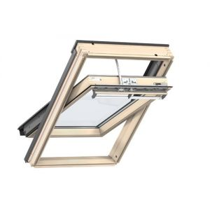 Image for VELUX GGL FK04 306630 INTEGRA Solar Powered pine triple glazed Roof Window Centre Pivot 66x140cm
