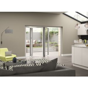 Image for JCI White Aluminium Pre Finished External 3 Bifold Doors Right Opening - 2090mm x 2690mm