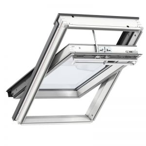 Image for Velux Multi-Window Bundle 3 White Painted Integra Electric Roof Windows and Insulated Tile Flashing - 114 x 118 cm