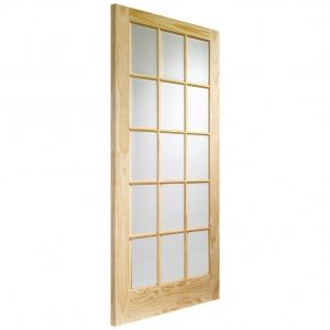 Image for XL Joinery SA77 Internal Clear Pine Door with Clear Glass