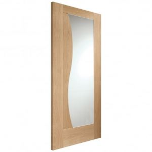 Image for XL Joinery Emilia Internal Oak Door with Clear Glass