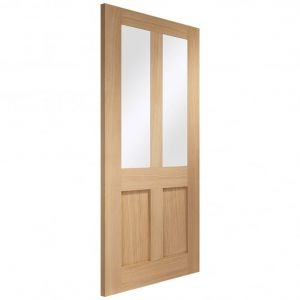 Image for XL Joinery Malton Shaker Internal Oak Door with Clear Glass