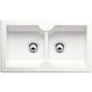 Image for Blanco IDESSA 9 Ceramic Kitchen Sink Crystal White Glossy  BL467541