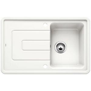 Image for Blanco TOLON 45 S Ceramic Kitchen Sink Crystal White Glossy  BL467807