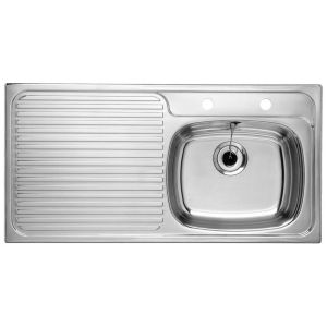 Image for SUPERIOR 10 x 5 (rectangular overflow) Stainless Steel Kitchen Sink Right Hand Bowl BL453062