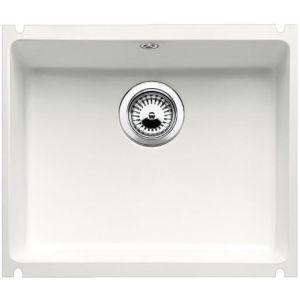 Image for Blanco SUBLINE 500-U Ceramic Kitchen Sink Crystal White Glossy  BL467601