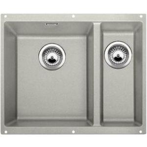 Image for BLANCO Kitchen Sink Subline 340/160-U Silgranit® Puradur® main Bowl Left - Pearl Grey