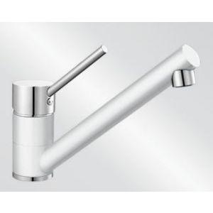 Image for Blanco Kitchen Mixer Tap Peak Silgranit ® Look Dual Finish High Pressure - White / Chrome