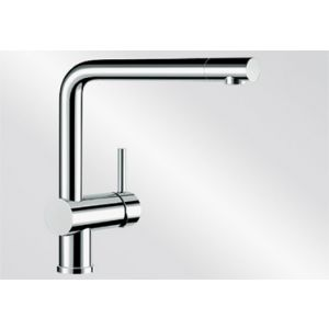 Image for Blanco Kitchen Mixer Tap Linus Metallic Surface High Pressure - Chrome