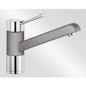 Image for Blanco Kitchen Mixer Tap Zenos Silgranit ® Look Dual Finish High Pressure - Alumetallic / Chrome
