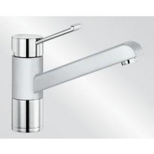 Image for Blanco Kitchen Mixer Tap Zenos Silgranit ® Look Dual Finish High Pressure - White / Chrome