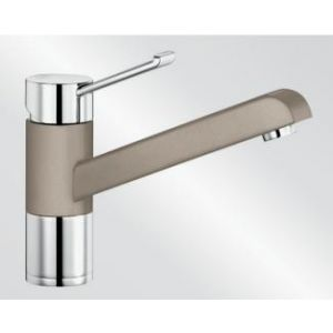 Image for Blanco Kitchen Mixer Tap Zenos Silgranit ® Look Dual Finish High Pressure - Tartufo / Chrome
