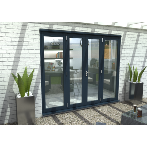 Image for Rohden Grey Fully Finished External French Vestibule Doorset - 83in x 94in x 54mm (2100mm x 2400mm)