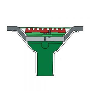 Image for Roof Drain Rainwater Outlet Aluminium Vertical Spigot 100mm Flat Grate