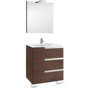Image for Roca Victoria-N 700 Pack (Base Unit,Basin, Mirror And Two Spotlights) Textured Wenge