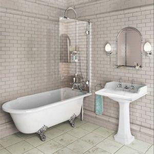 Image for Burlington Hampton Shower Bath RH Freestanding - 1700 x 750mm
