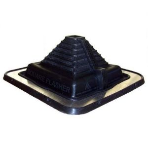 Image for AD Series Square Pipe Flashing for Metal Roofs 25mm to 100mm - Black