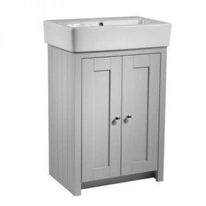 Image for Tavistock Lansdown 550mm Freestanding Washbasin Unit & Basin, Pebble Grey