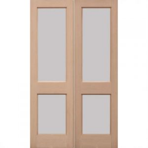 Image for LPD 2XGG Hemlock Unglazed Exterior Door Pair