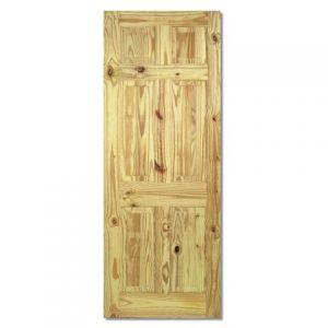 Image for LPD Knotty Pine 6 Panel Internal Door
