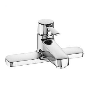 Image for Roca Targa Chrome Deck Mounted Bath Filler