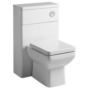 Image for Tavistock Q60 500mm Back To Wall WC Toilet Unit - Gloss White