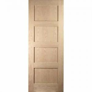 Image for JELD-WEN Internal White Oak Unfinished Shaker 4P FD30 Fire Door