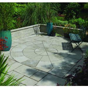 Image for Bradstone Old Town Paving Slab Grey Green 2 Ring Circle Kit