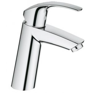 Image for GROHE Eurosmart Basin Tap, Medium High Spout, Smooth Body, GROHE Silkmove® Es, GROHE Ecojoy®