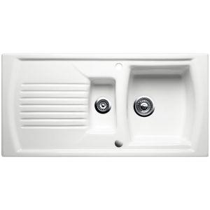 Image for Blanco SETURA 6 S Ceramic Kitchen Sink Crystal White Glossy Reversible BL452660