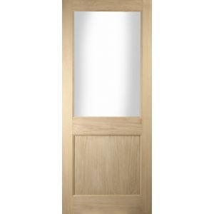 Image for JELD-WEN External White Oak Unfinished 2 Panel Glazed White Door
