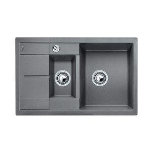 Image for BLANCO Kitchen Sink Metra 6 S Compact  Silgranit® Puradur®  With Pop-Up Waste - Alu Metallic