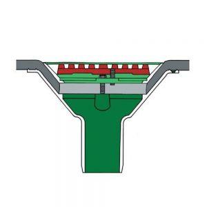 Image for Roof Rainwater Outlet Vertical Spigot 50mm Aluminium - Flat Grate