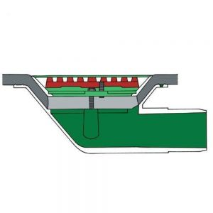 Image for Aluminium Roof Rainwater Outlet 90 Degree Spigot 75mm - Flat Grate