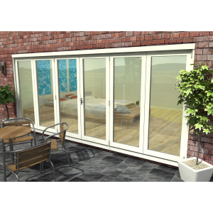 Image for Rohden White Fully Finished Bi-Fold External Doorset - 83in x 189in x 54mm (2100mm x 4800mm)