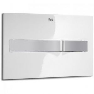 Image for Roca PL2 In-Wall Dual Flush Operating Plate Combi (White/Grey)