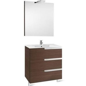 Image for Roca Victoria-N 800 Pack (Base Unit,Basin, Mirror And Two Spotlights) Textured Wenge