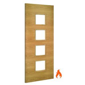 Image for Deanta Augusta Unglazed Interior Oak Fire Door