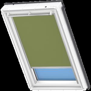 Image for Velux Electric Blackout Blind Olive Green - DML 4567