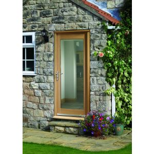Image for XL Joinery Pattern 10 Double Glazed External Oak Door (Dowelled) with Clear Glass